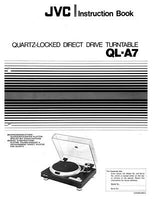 JVC QL-A7 Turntable Owners Instruction Manual Reprint