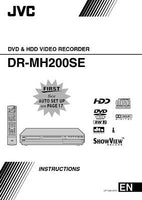 JVC DR-MH200SE DVD Recorder Owners Instruction Manual Reprint