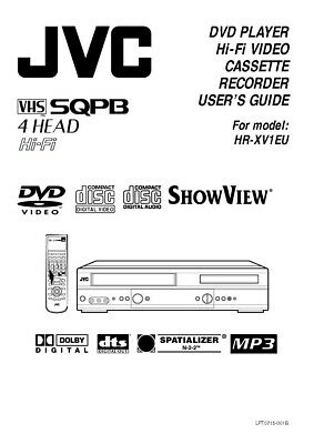 JVC HR-XV1EU VCR Owners Instruction Manual Reprint
