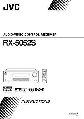 JVC RX-5052SB Receiver Owners Instruction Manual Reprint
