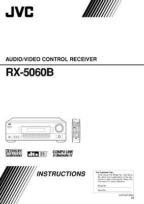 JVC RX-5060B Receiver Owners Instruction Manual Reprint