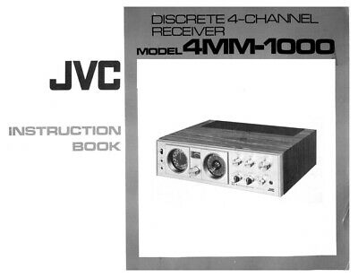 JVC 4MM-1000 Reciever Owners Instruction Manual Reprint
