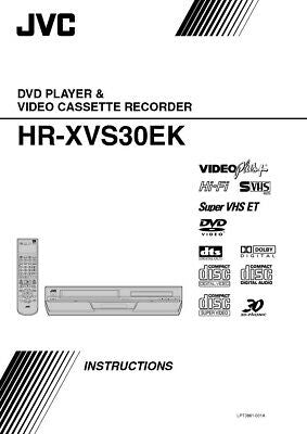 JVC HR-XVS30EK VCR Owners Instruction Manual Reprint