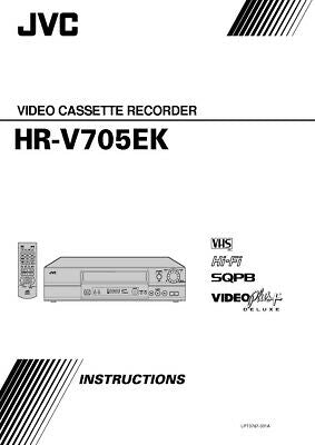 JVC HR-V705EK VCR Owners Instruction Manual Reprint