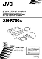 JVC XM-R700SL Minidisc Recorder Owners Instruction Manual Reprint
