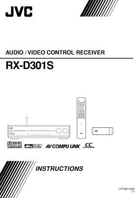 JVC RX-D301SUJ Receiver Owners Instruction Manual Reprint