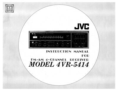 JVC 4VR-5414 Receiver Owners Instruction Manual Reprint