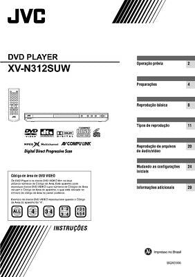 JVC XV-N312SUW DVD Player Owners Instruction Manual Reprint