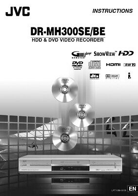 JVC DR-MH300BE DR-MH300SE DVD Recorder Owners Instruction Manual Reprint