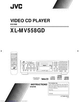 JVC XL-MV558GD Video CD Player Owners Instruction Manual Reprint