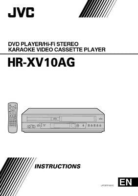 JVC HR-XV10AG VCR Owners Instruction Manual Reprint