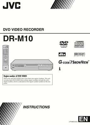 JVC DR-M10 DVD Recorder Owners Instruction Manual Reprint