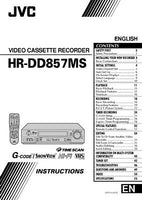 JVC HR-DD857MS VCR Owners Instruction Manual Reprint
