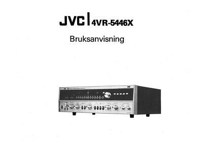 JVC 4VR-5446X Receiver Owners Instruction Manual Reprint