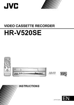 JVC HR-V520SEU VCR Owners Instruction Manual Reprint