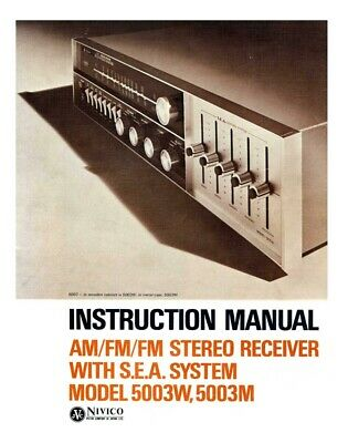 JVC 5003M 5003W Receiver Owners Instruction Manual Reprint