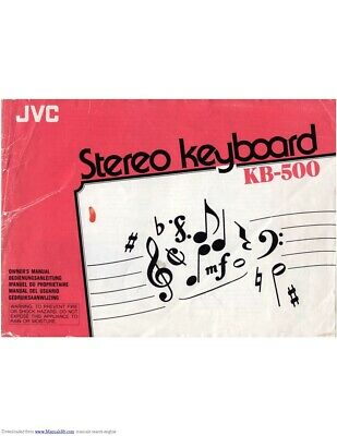 JVC KB-500 Keyboard Owners Instruction Manual Reprint