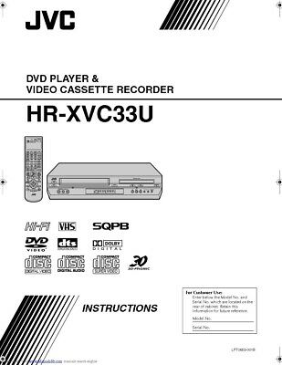 JVC HR-XVC33U VCR Owners Manual