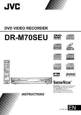 JVC DR-M70SEU DVD Recorder Owners Instruction Manual Reprint