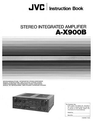 JVC A-X900B Amplifier Owners Instruction Manual Reprint