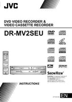 JVC DR-MV2SEU DVD Recorder Owners Instruction Manual Reprint