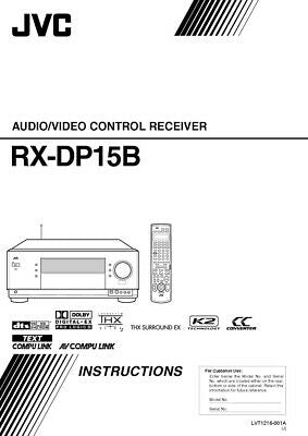 JVC RX-DP15BJ Receiver Owners Instruction Manual Reprint