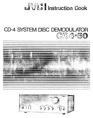 JVC CD4-50 Demodulator Owners Instruction Manual Reprint