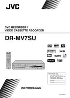 JVC DR-MV7SU DVD Recorder Owners Instruction Manual Reprint