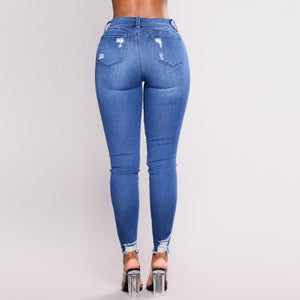 Butt Hugger Stretchy Jeans - Dots Clothing Store