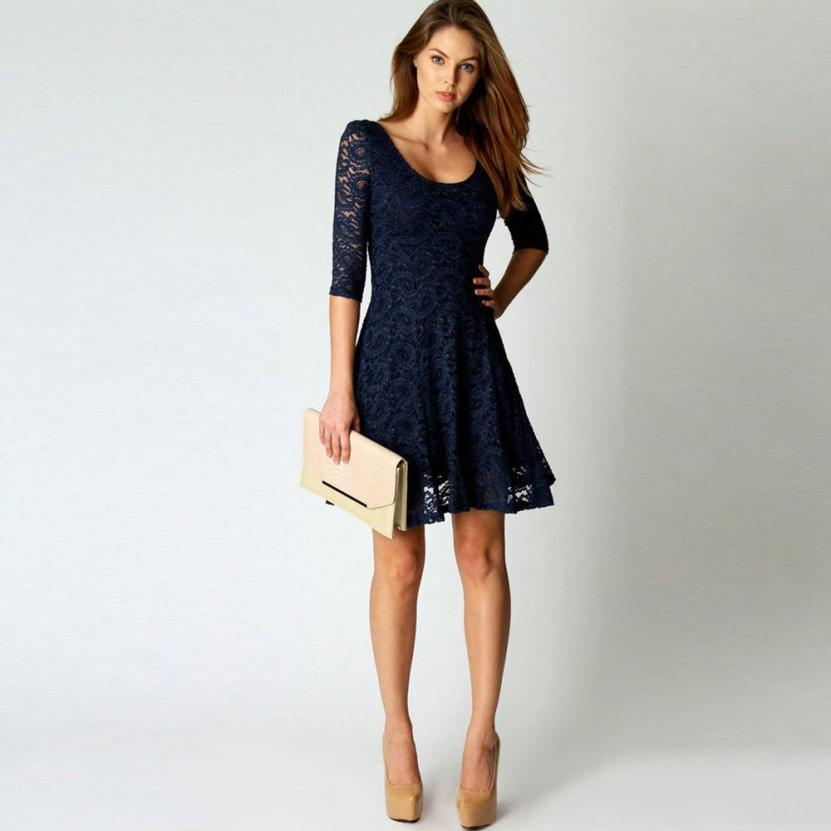 Dots fashion lace mini dress