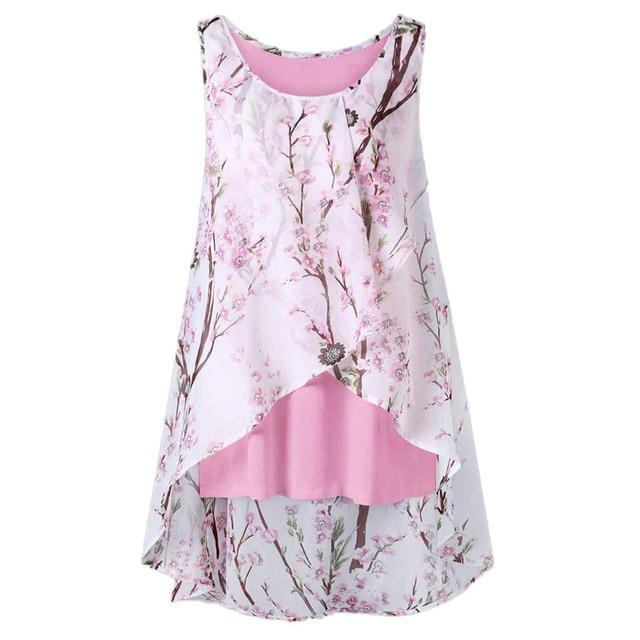 Beach flowers vest top - Dots Clothing Store