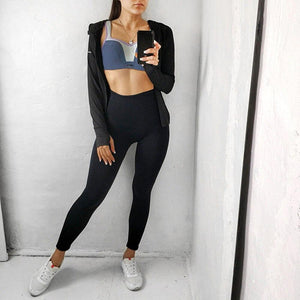Black Nylon Fitness Leggings - Dots Clothing Store
