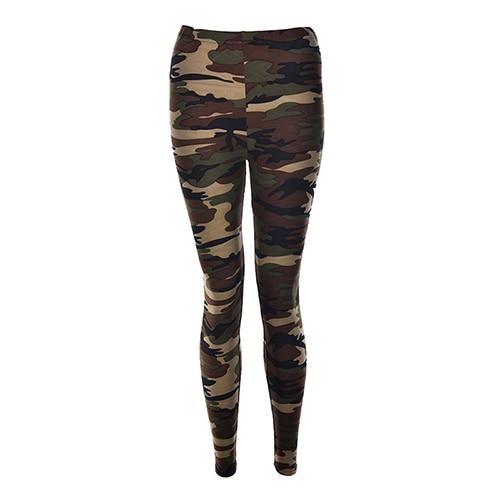 Camouflage Army Green Stretch Leggings - Dots Clothing Store