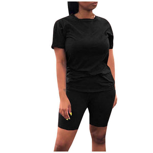 Casual Short Sleeve T-Shirt and Shorts Set - Dots Clothing Store