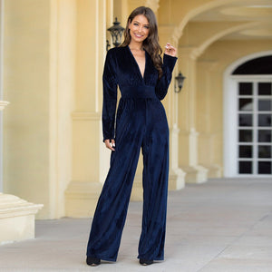 Corduroy high waist jumpsuits - Dots Clothing Store