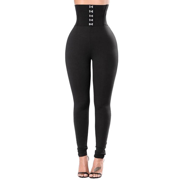 Corset like high waist leggings - Dots Clothing Store