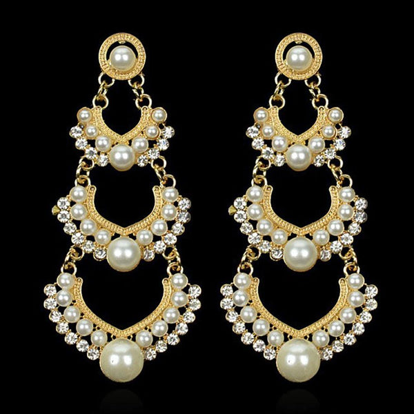 Crystal ascending earrings - Dots Clothing Store