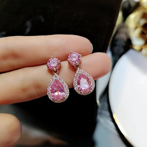 Crystal stud big rhinestone earrings - Dots Clothing Store