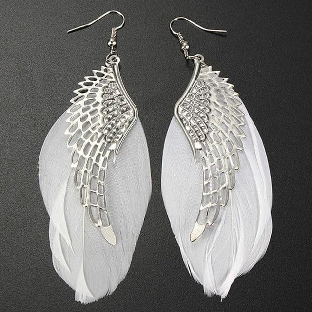 Dots angel metal wings earrings - Dots Clothing Store
