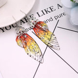 Dots fairy wings drop earrings - Dots Clothing Store