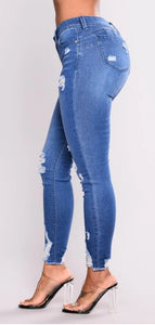 Dots ripped stretch jeans - Dots Clothing Store
