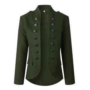 Double Breasted Lion Buttons Jacket - Dots Clothing Store