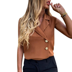 Double buttons wrap style blouse - Dots Clothing Store