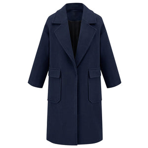 Double Pockets Long Winter Jacket - Dots Clothing Store