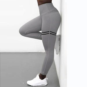 Double Stripes Workout Leggings - Dots Clothing Store