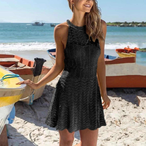 Embroidered Lace Crochet Dress - Dots Clothing Store