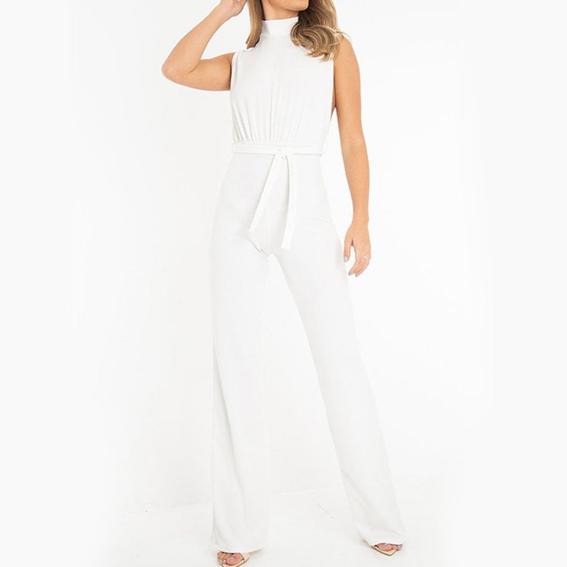 endless summer high collar jumpsuit - Dots Clothing Store