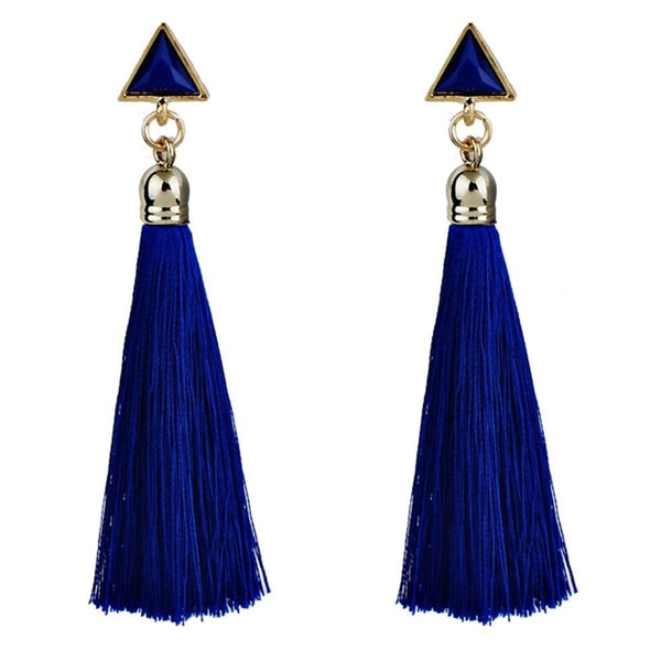 Ethnic hanging rope tassel earrings - Dots Clothing Store