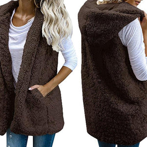 Ever warm Faux Fur Hooded Vests - Dots Clothing Store