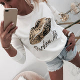 Exotic beaded leopard center print shirt - Dots Clothing Store
